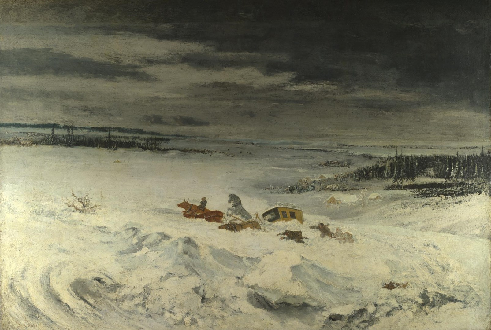 The Diligence in the Snow by Gustave Courbet