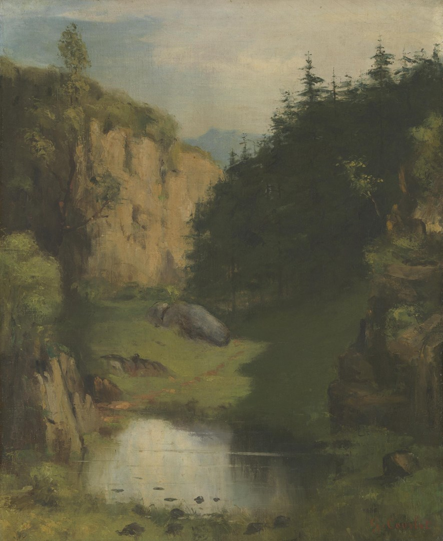 The Pool by Style of Gustave Courbet