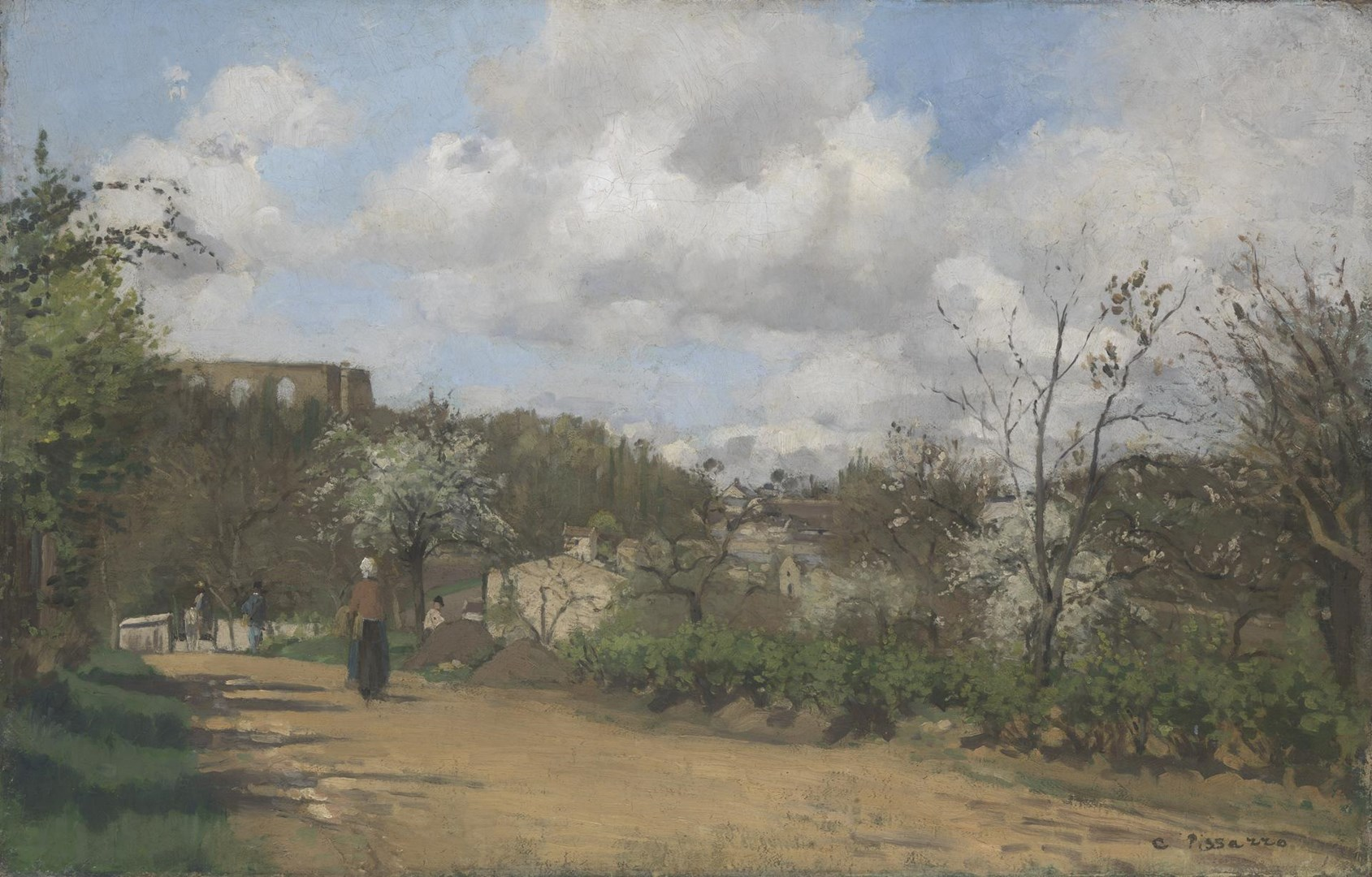 View from Louveciennes by Camille Pissarro