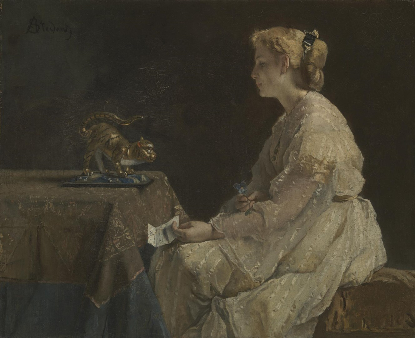 The Present by Alfred Stevens