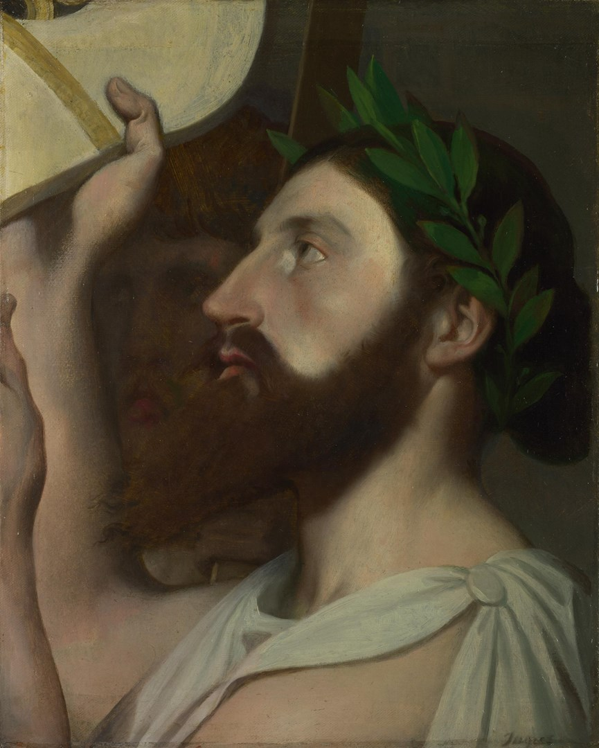 Pindar and Ictinus by Jean-Auguste-Dominique Ingres