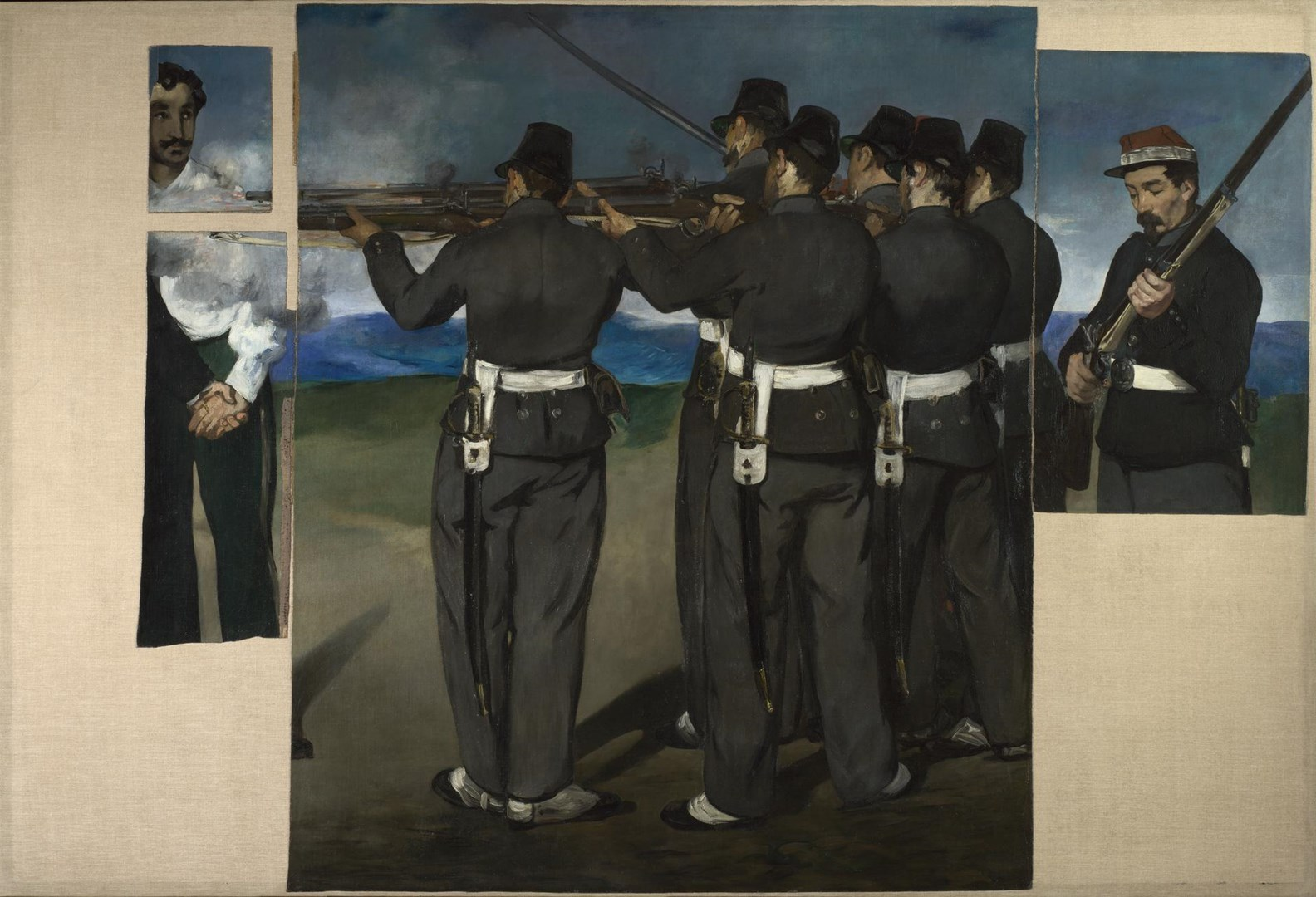 The Execution of Maximilian by Edouard Manet