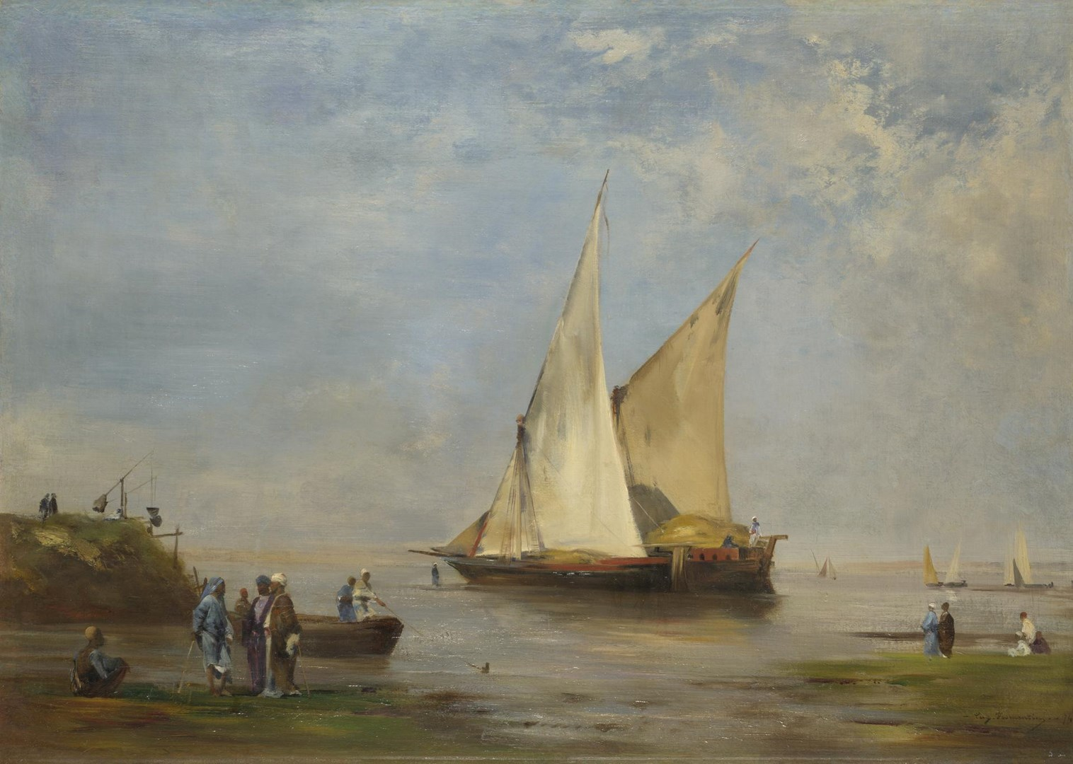 The Banks of the Nile by Eugène Fromentin