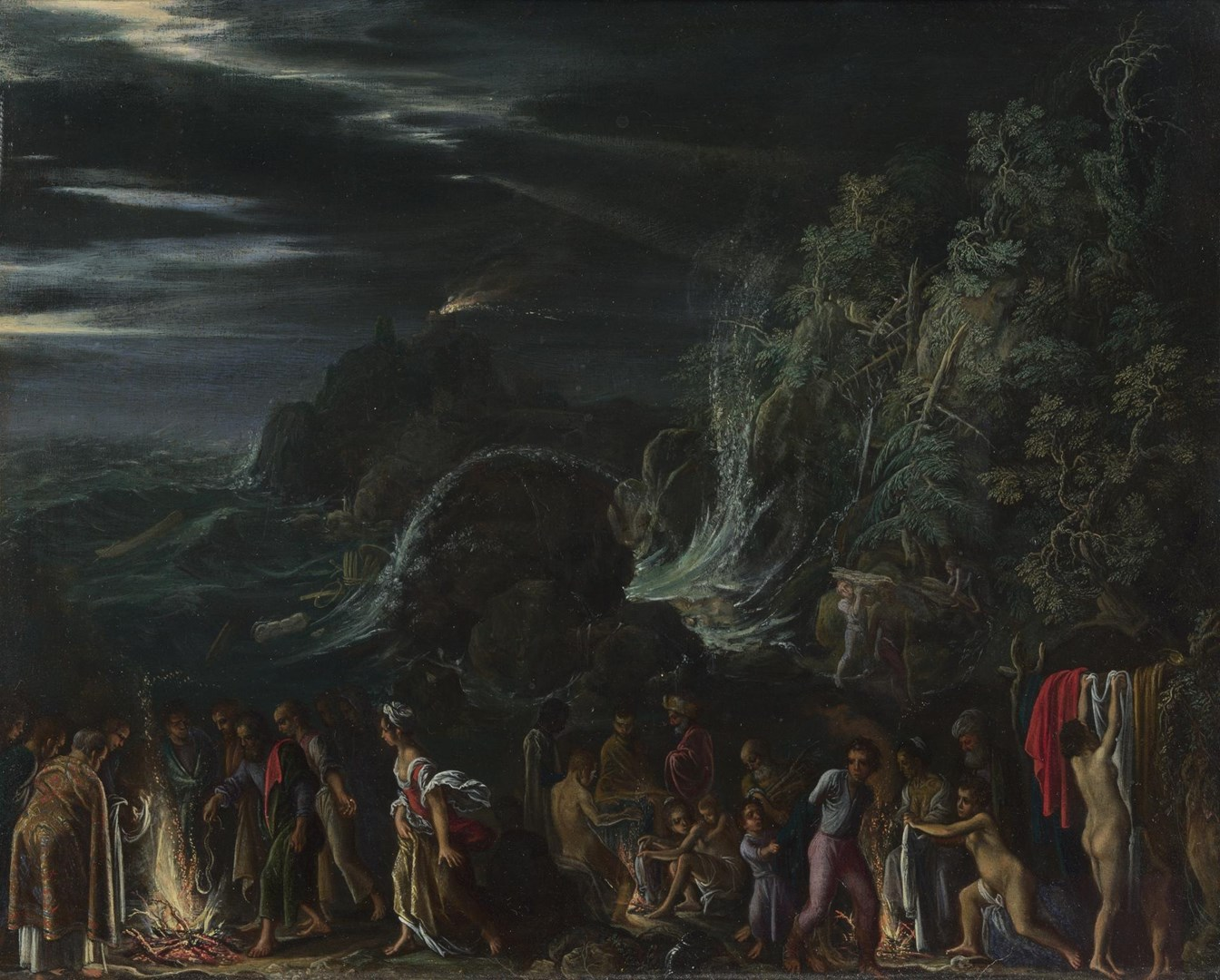 Saint Paul on Malta by Adam Elsheimer