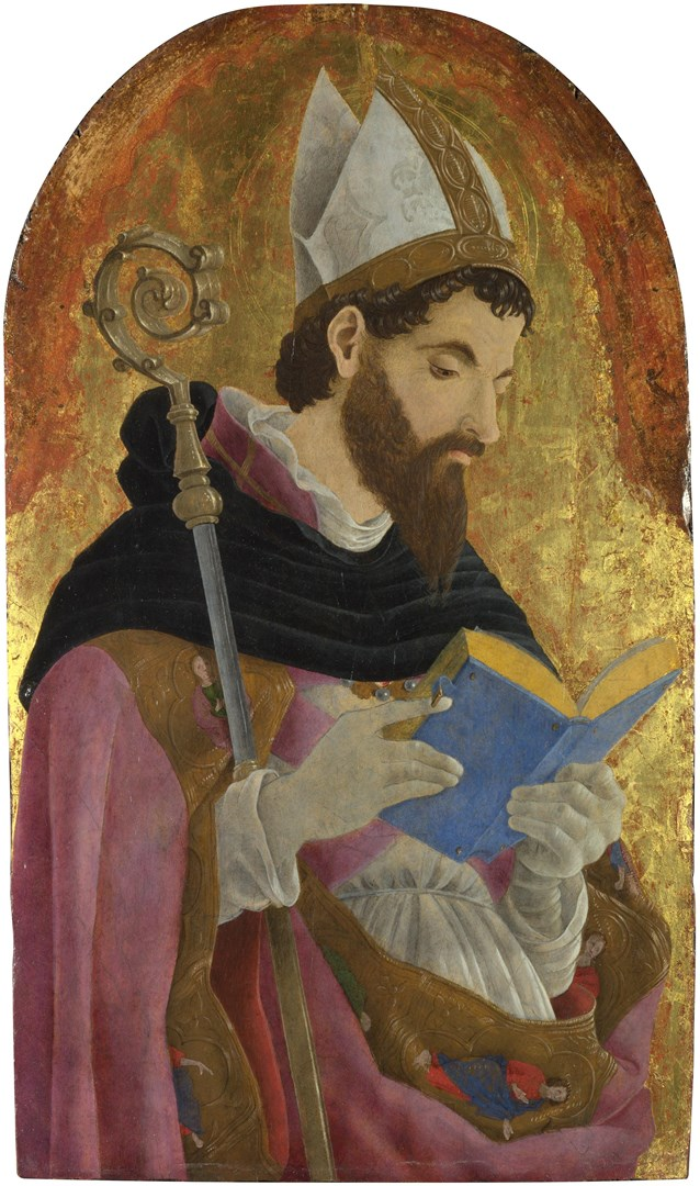 A Bishop Saint, perhaps Saint Augustine by Marco Zoppo