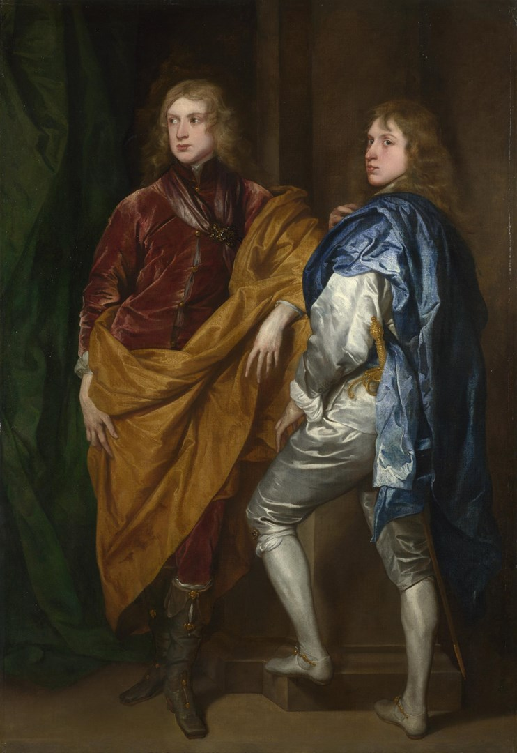 Portraits of Two Young Englishmen by Style of Anthony van Dyck