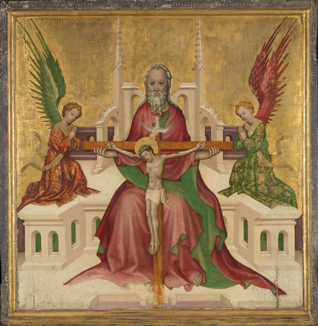 The Trinity with Christ Crucified by Austrian