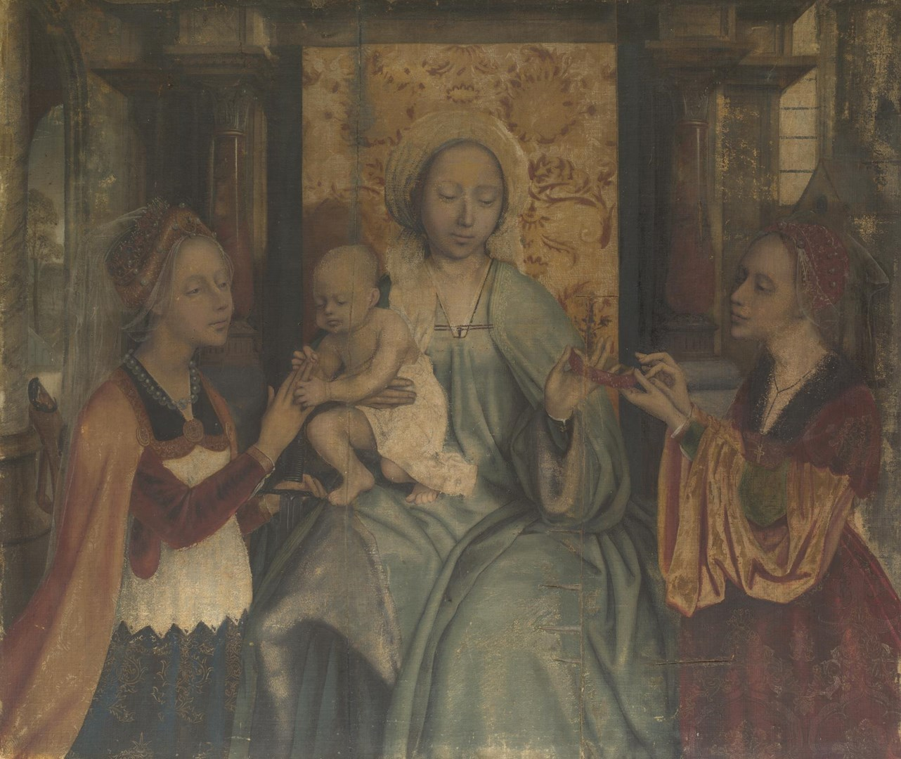 The Virgin and Child with Saints Catherine and Barbara by Quinten Massys