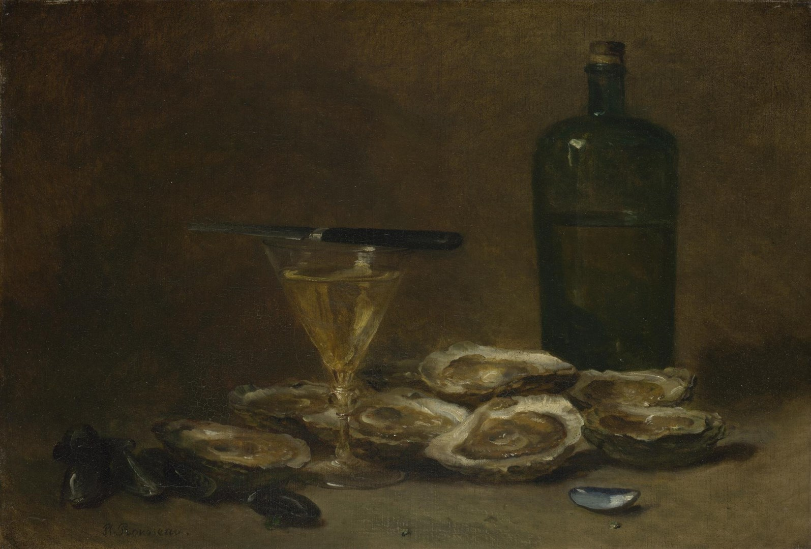 Still Life with Oysters by Philippe Rousseau