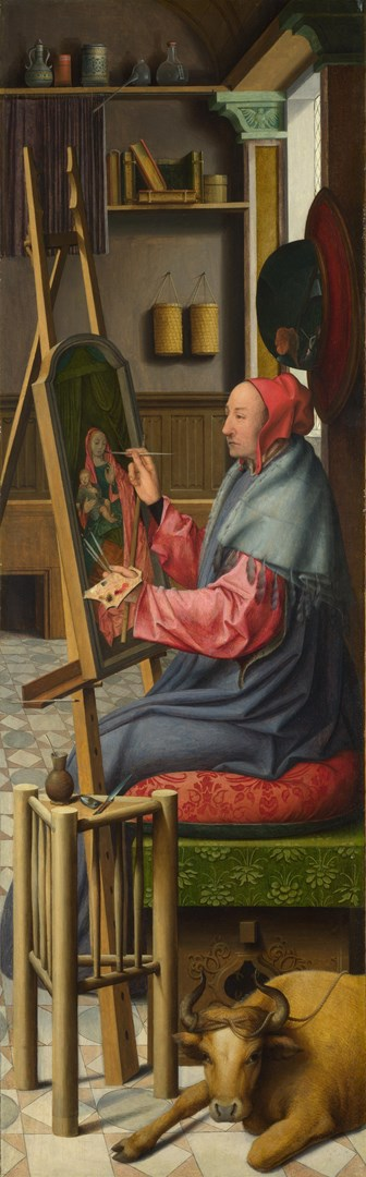 Saint Luke painting the Virgin and Child by Workshop of Quinten Massys
