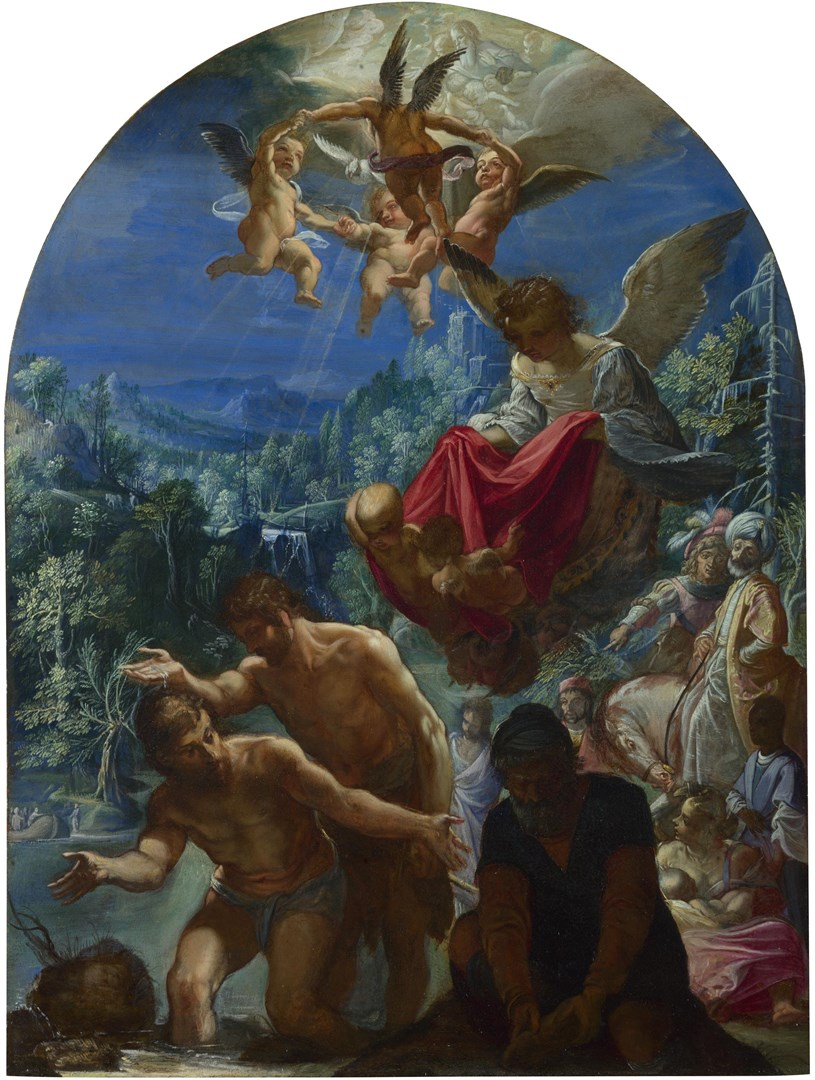 The Baptism of Christ by Adam Elsheimer