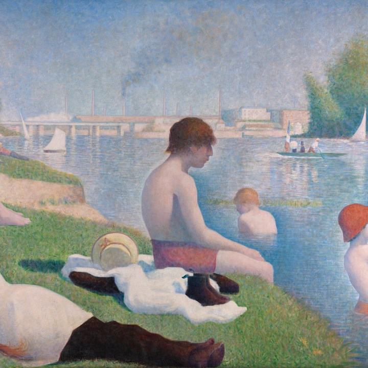 Georges Seurat Bathers At Asnières Ng3908 National Gallery London