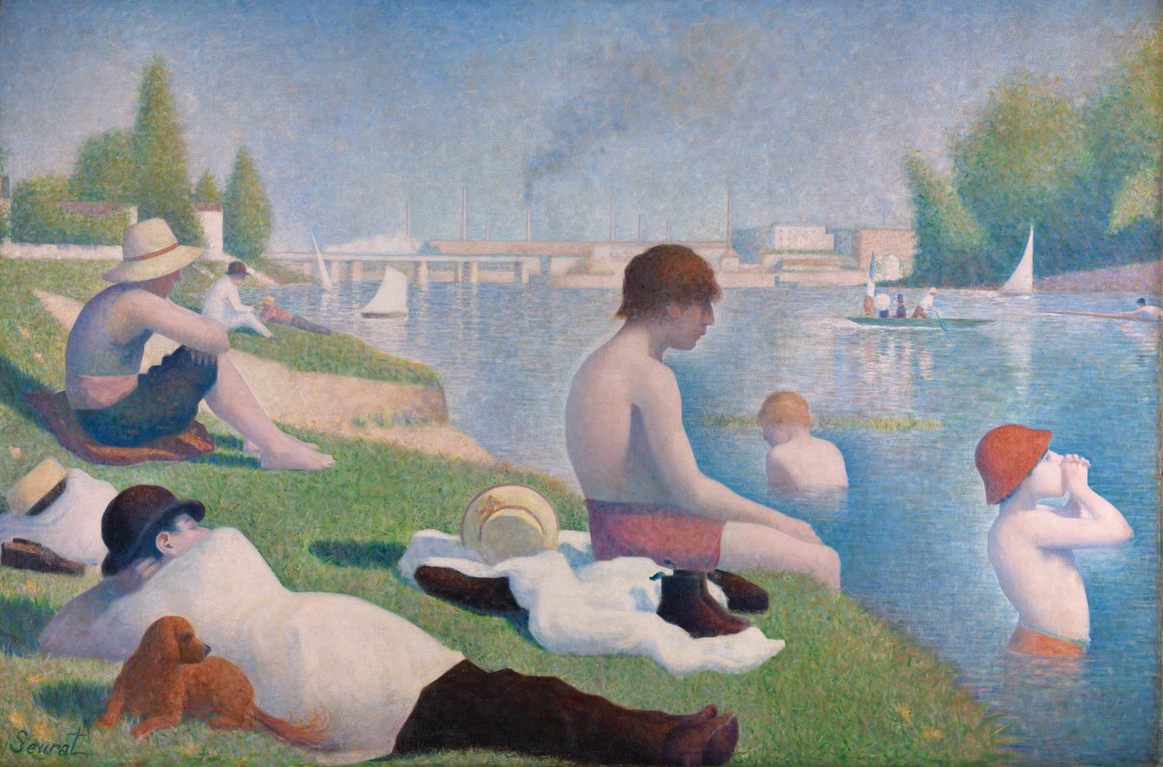 Bathers at Asnières by Georges Seurat
