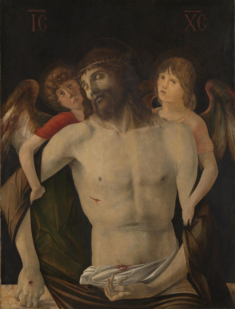 The Dead Christ supported by Two Angels by Giovanni Bellini