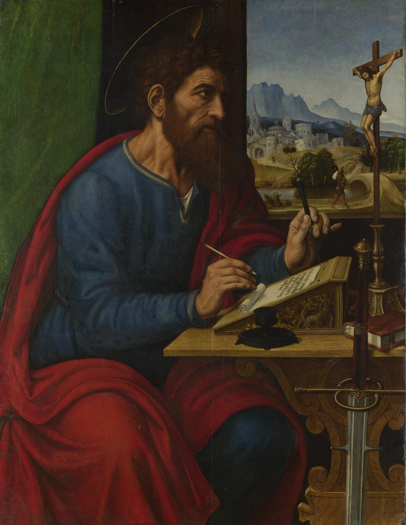 Saint Paul Writing by Pier Francesco Sacchi