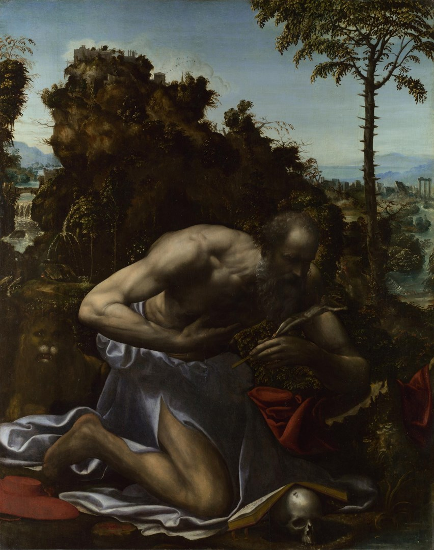Saint Jerome in Penitence by Sodoma