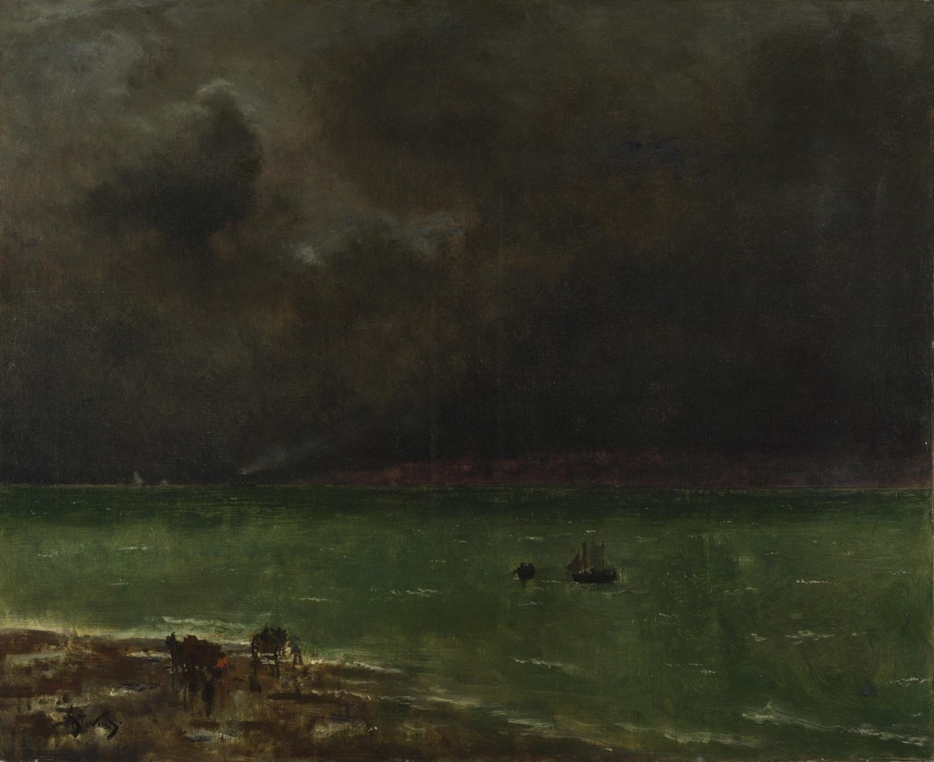Storm at Honfleur by Alfred Stevens