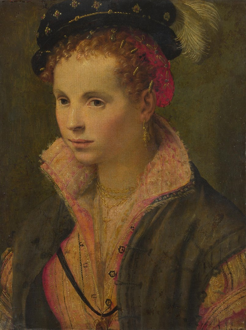 Portrait of a Lady in a Plumed Hat by Italian, North