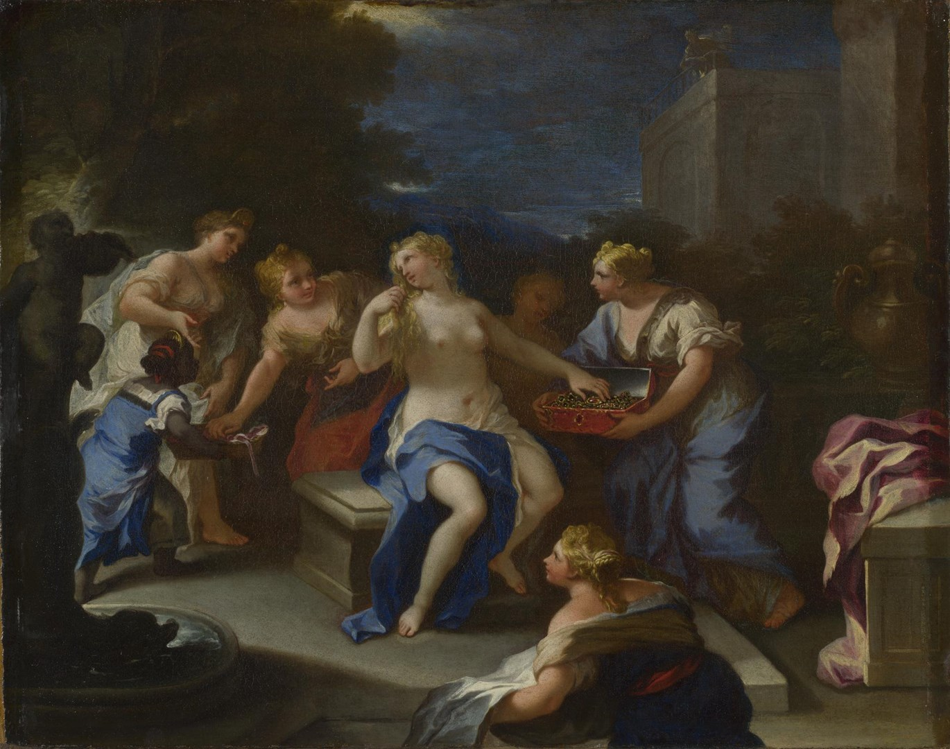 The Toilet of Bathsheba by Style of Luca Giordano