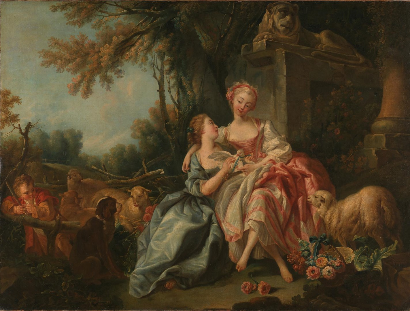 The Billet-Doux by Studio of François Boucher