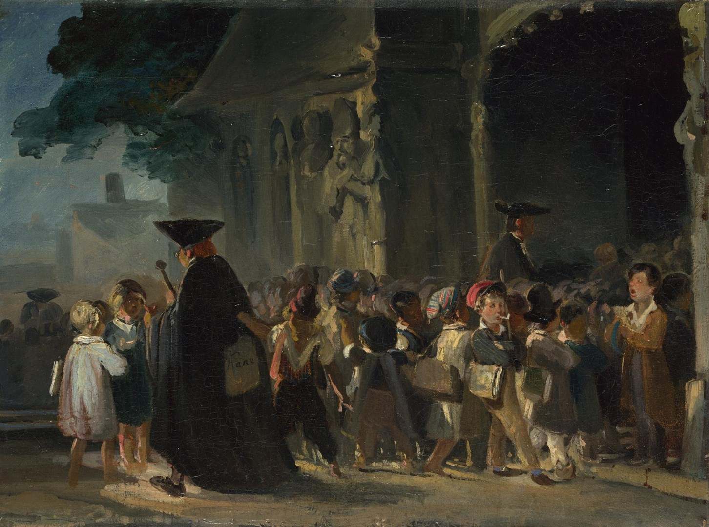 Children at a Church Door by Nicolas-Toussaint Charlet