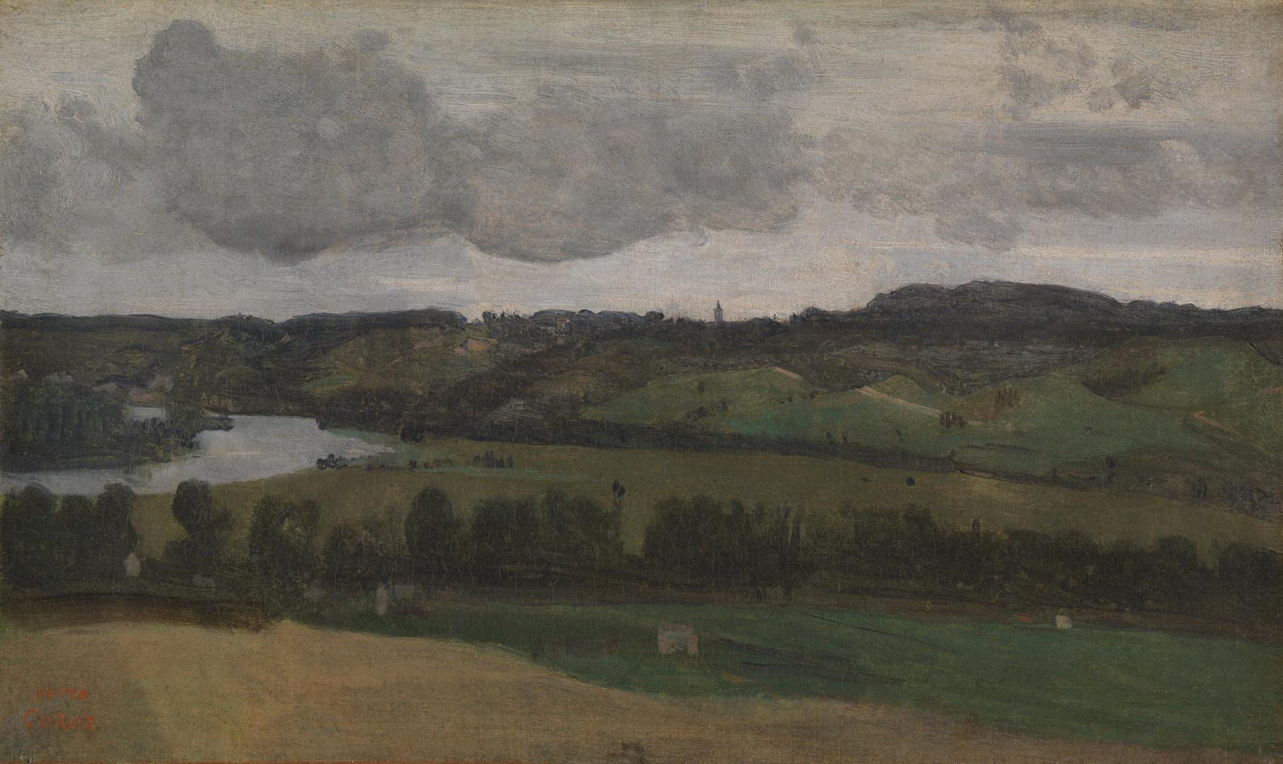 The Seine near Rouen by Jean-Baptiste-Camille Corot