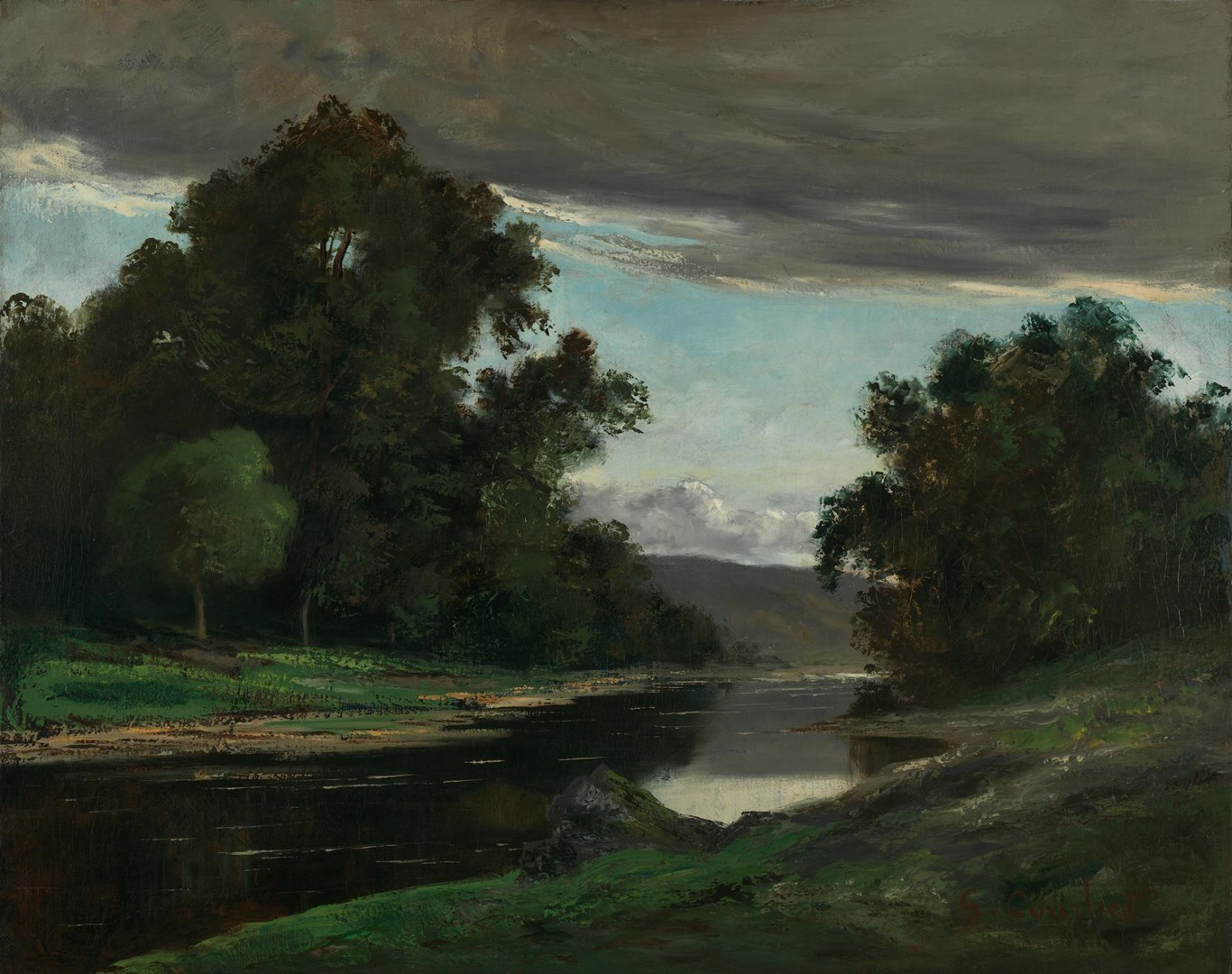 Landscape by Style of Gustave Courbet