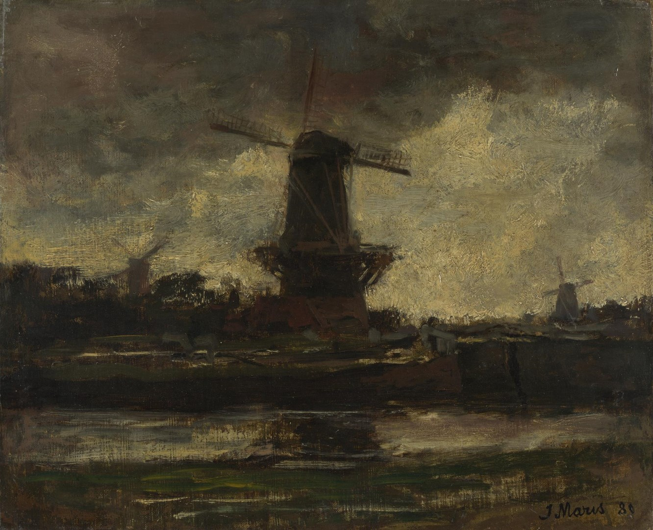 Three Windmills by Jacob Maris