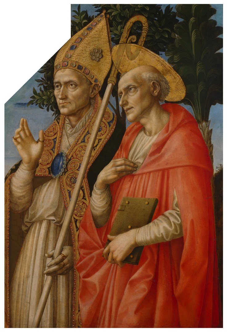 Saints Zeno and Jerome by Francesco Pesellino and Fra Filippo Lippi and workshop