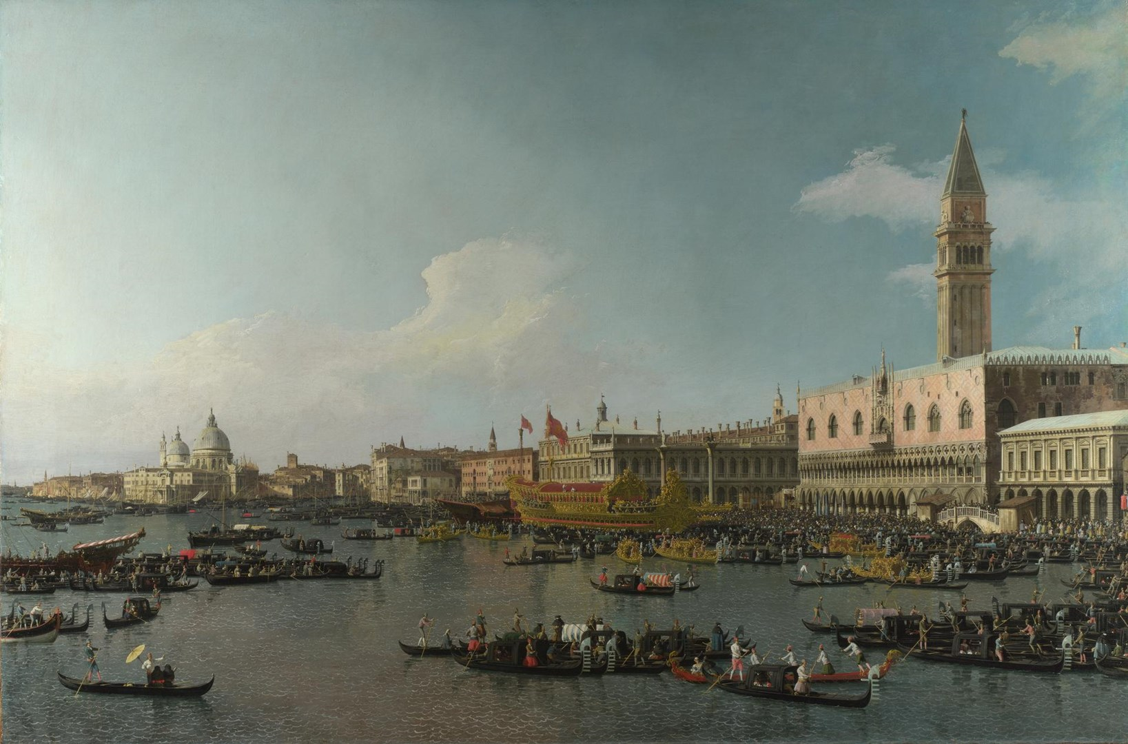 Venice: The Basin of San Marco on Ascension Day by Canaletto