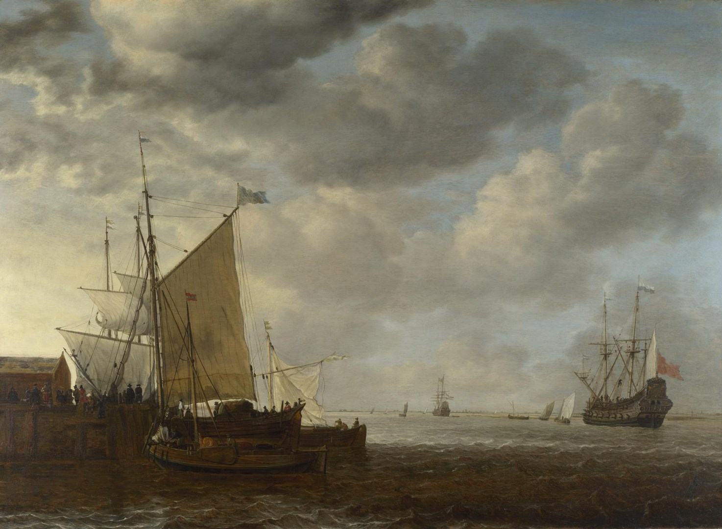 A View of an Estuary by Simon de Vlieger