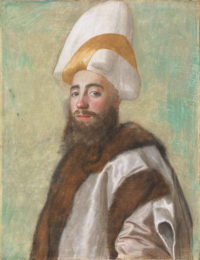 Portrait of a Grand Vizir, or of a European dressed as one by Jean-Etienne Liotard