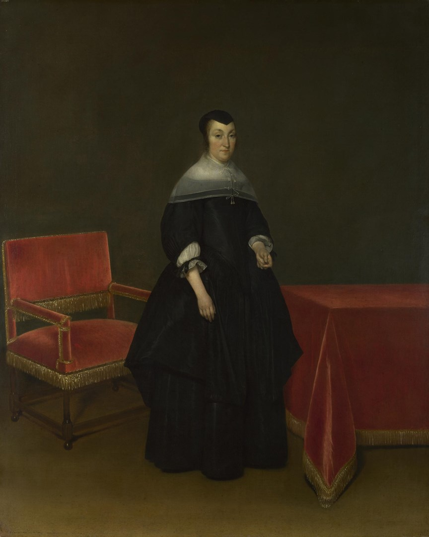 Portrait of Hermanna van der Cruis by Gerard ter Borch