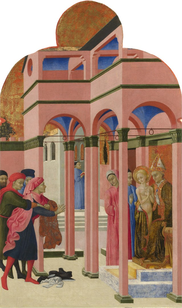 Saint Francis renounces his Earthly Father by Sassetta