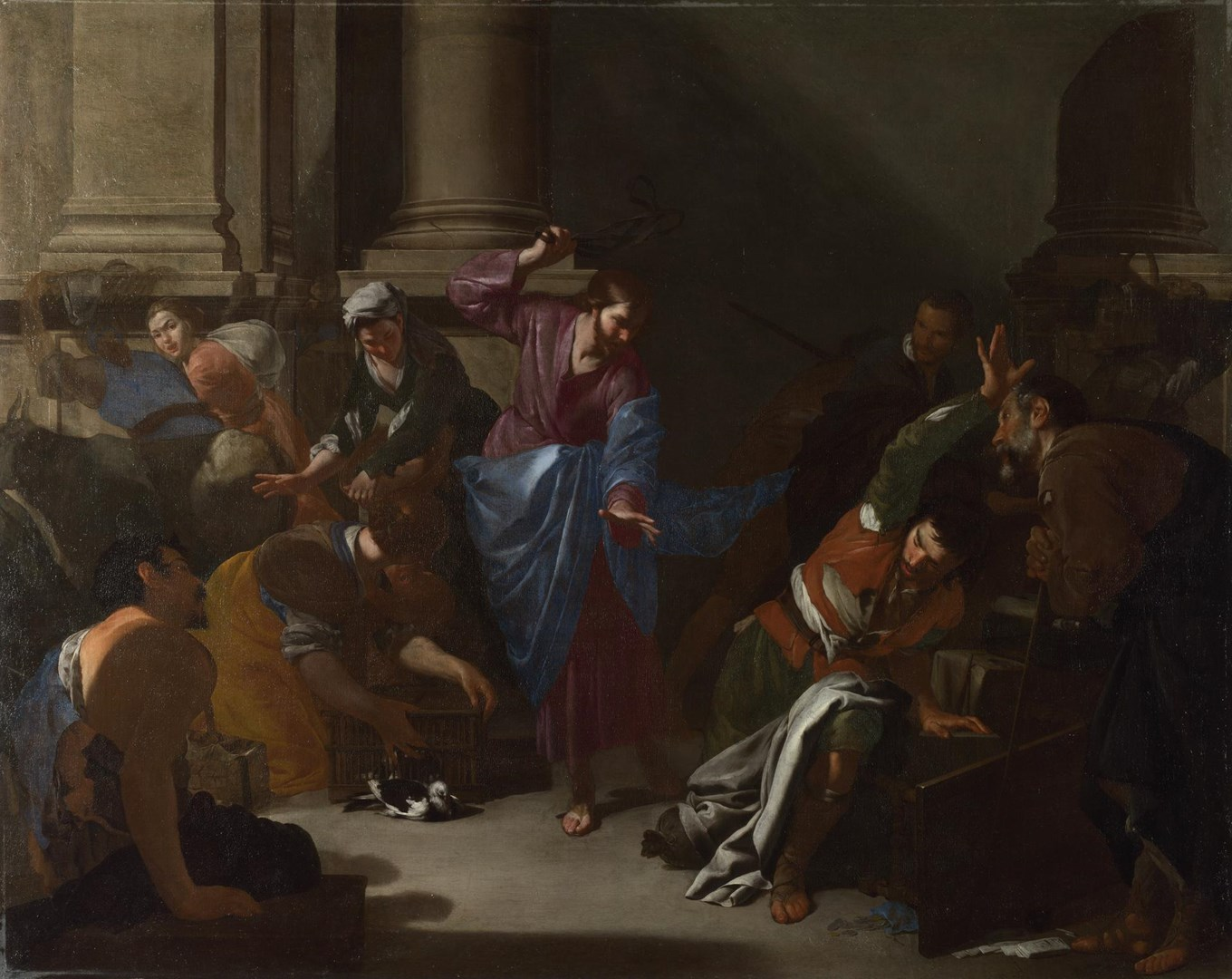 Christ driving the Traders from the Temple by Bernardo Cavallino