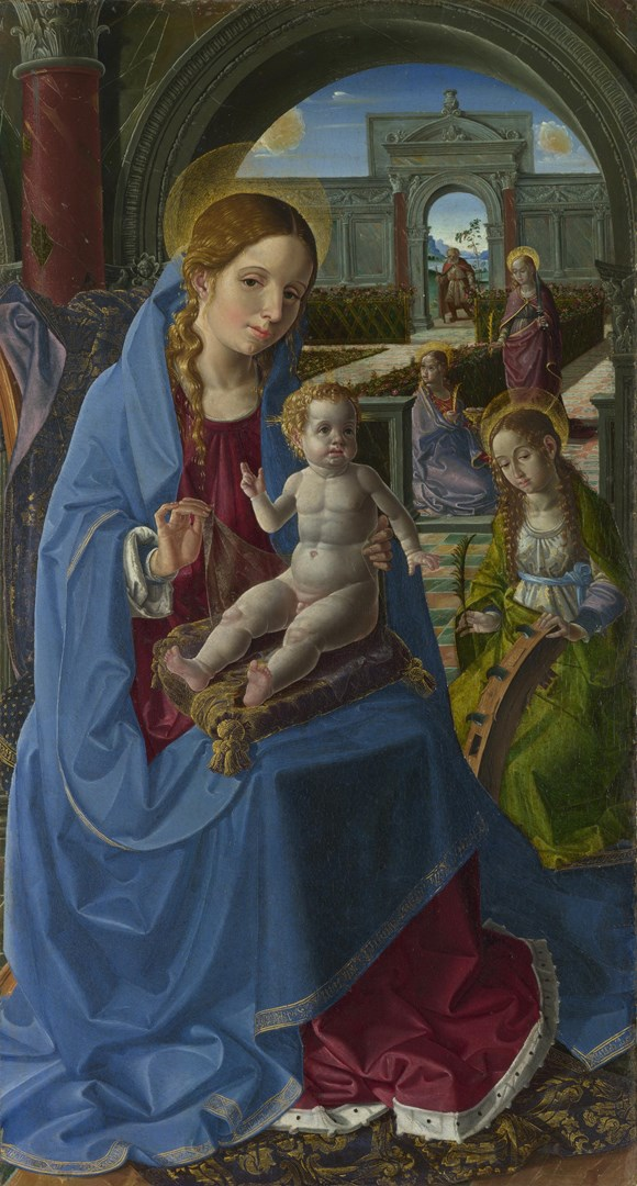 The Virgin and Child with Saints by Paolo da San Leocadio