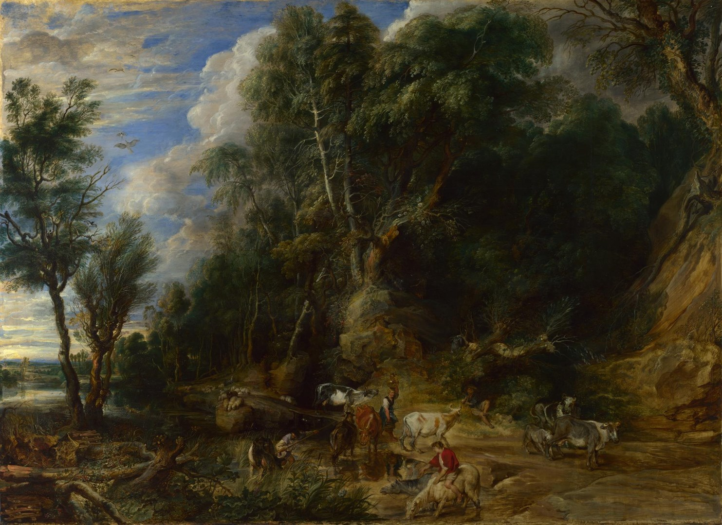 The Watering Place by Peter Paul Rubens