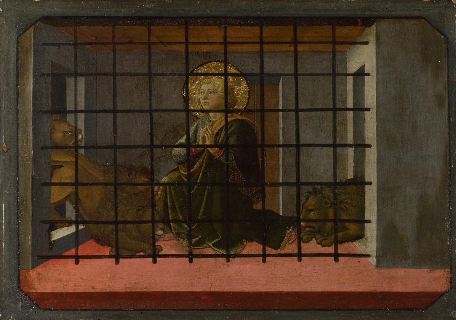 Saint Mamas in Prison thrown to the Lions by Fra Filippo Lippi and workshop