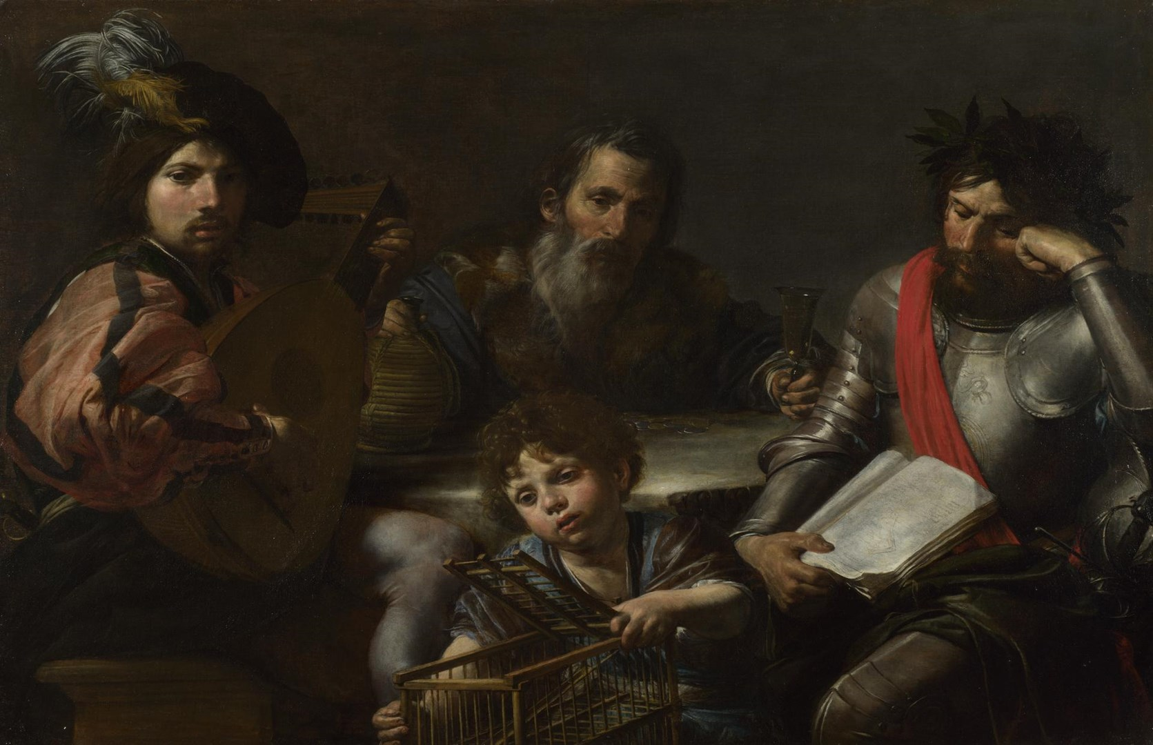 The Four Ages of Man by Valentin de Boulogne