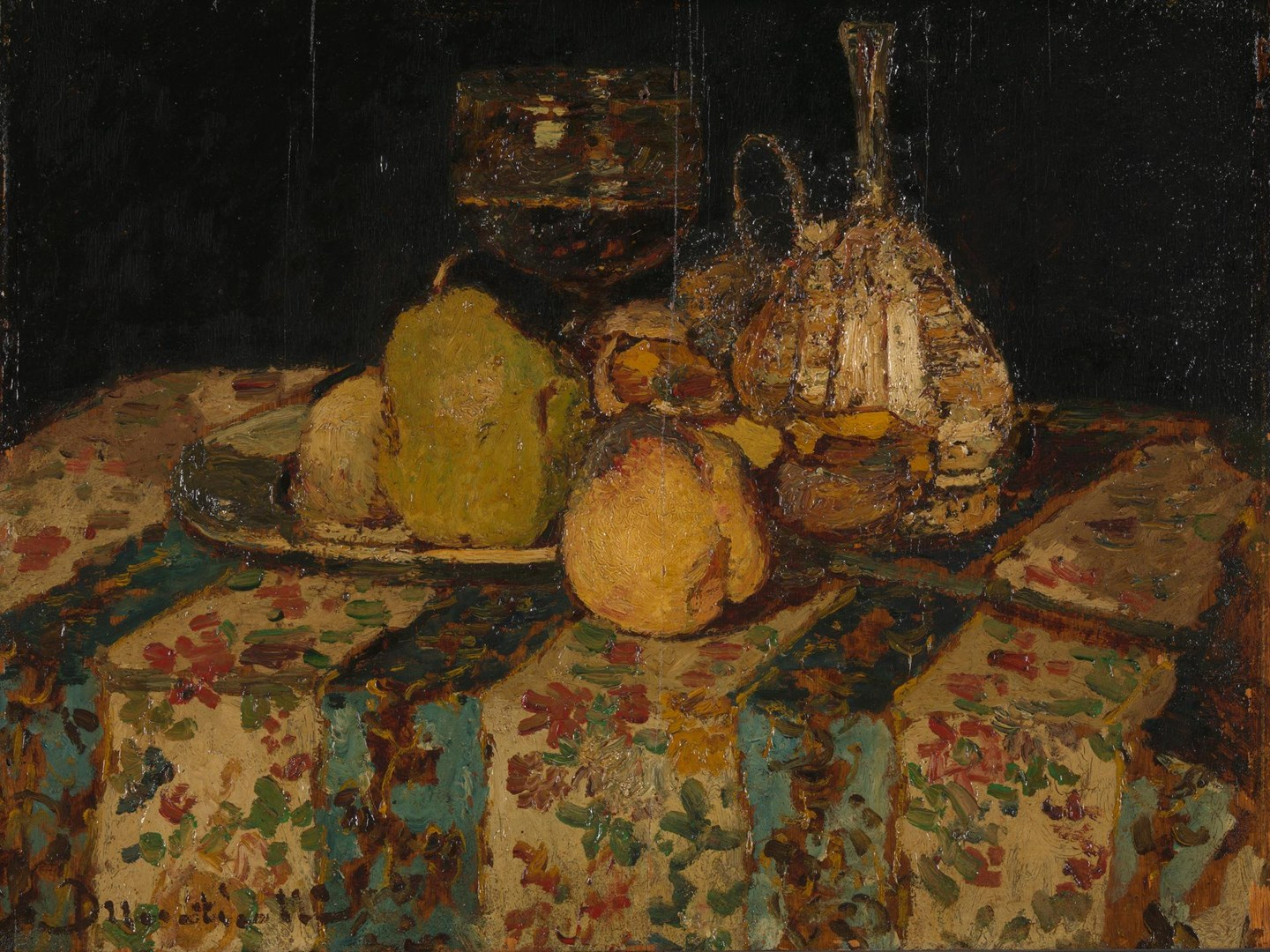 Still Life: Fruit by Adolphe Monticelli