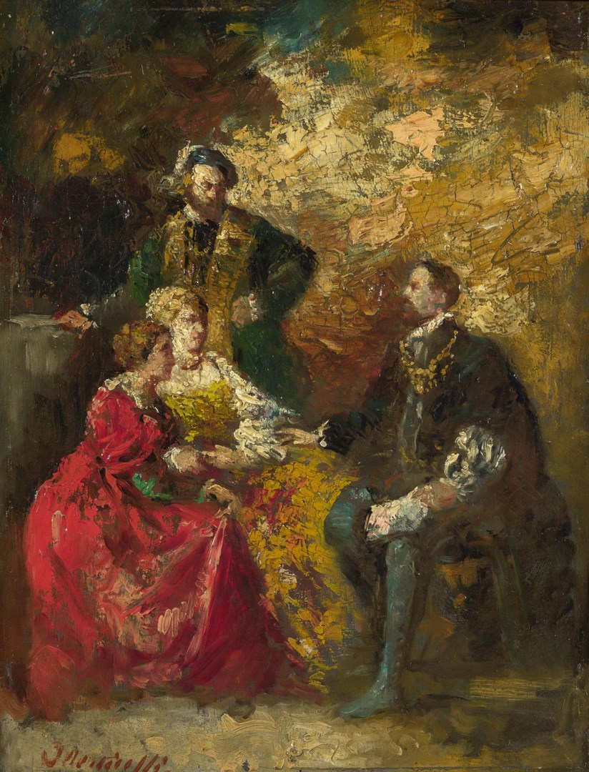 Conversation Piece by Imitator of Adolphe Monticelli