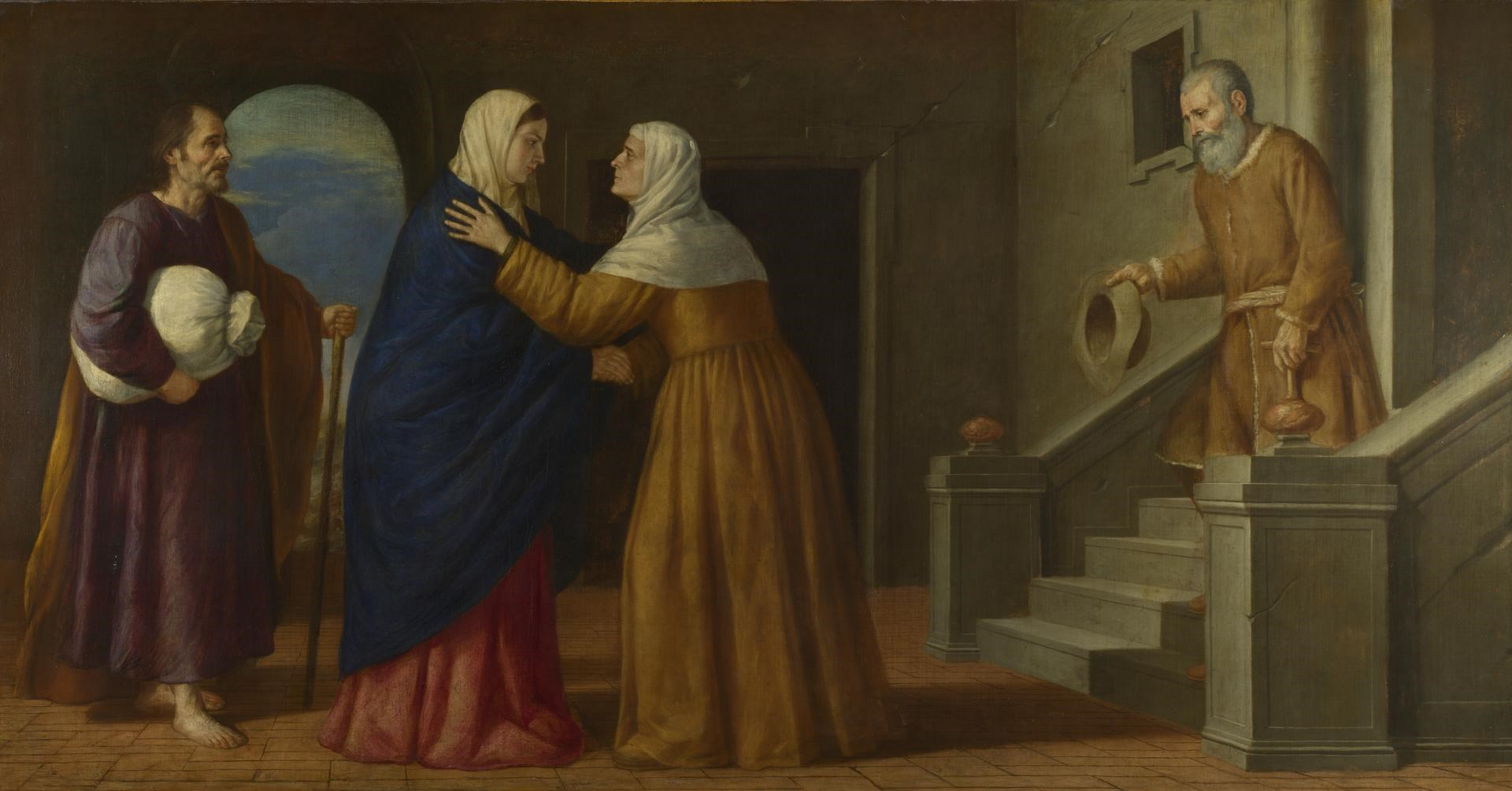 The Visitation by French or North Italian