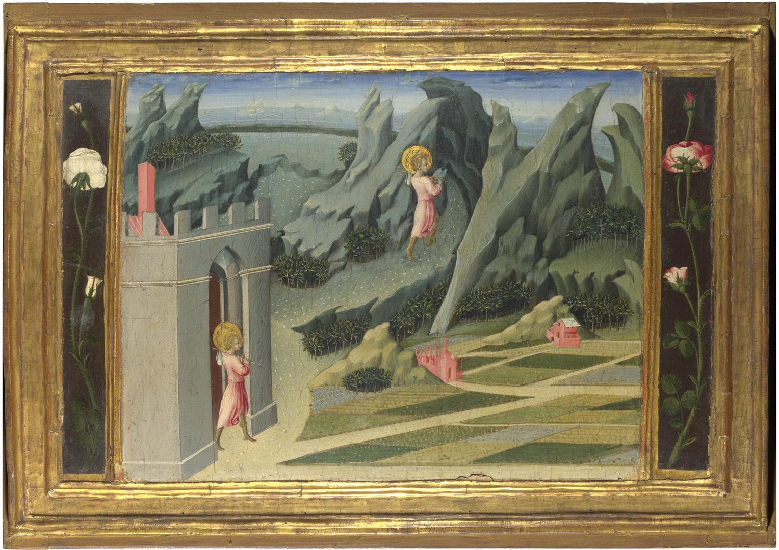 Saint John the Baptist retiring to the Desert by Giovanni di Paolo
