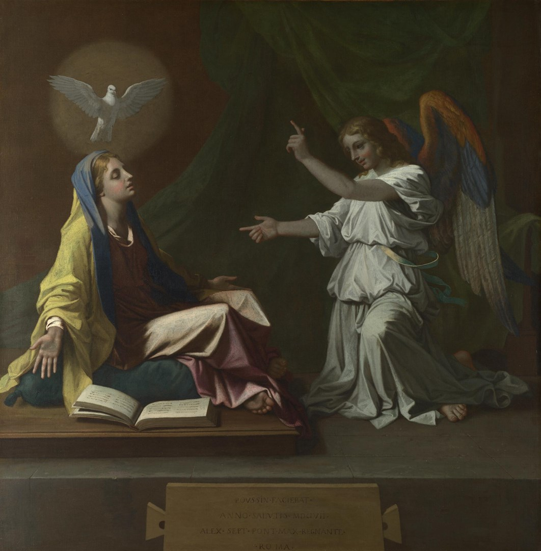 The Annunciation by Nicolas Poussin