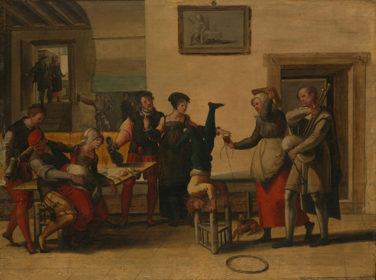 Entertainers in a Brothel by After The Brunswick Monogrammist