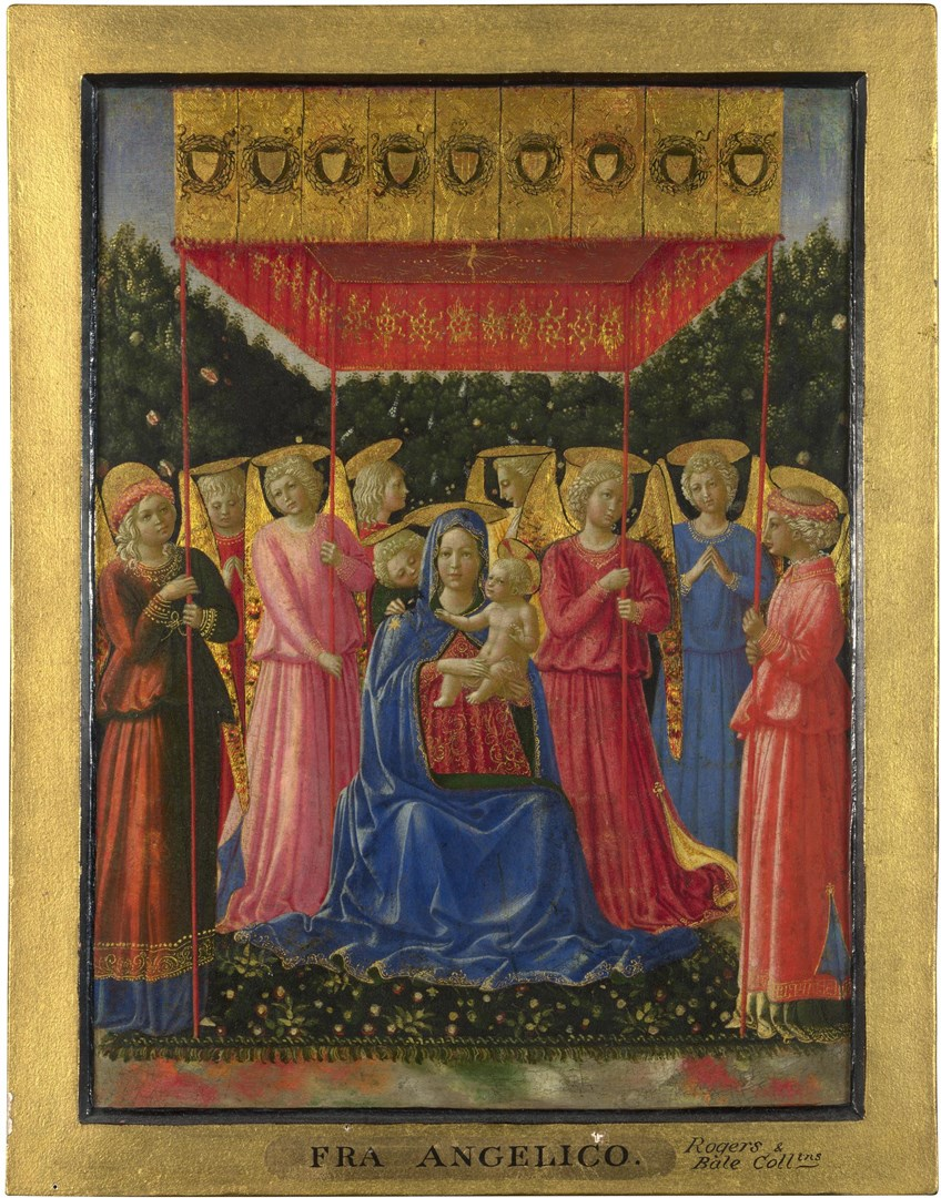 The Virgin and Child with Angels by Probably by Benozzo Gozzoli