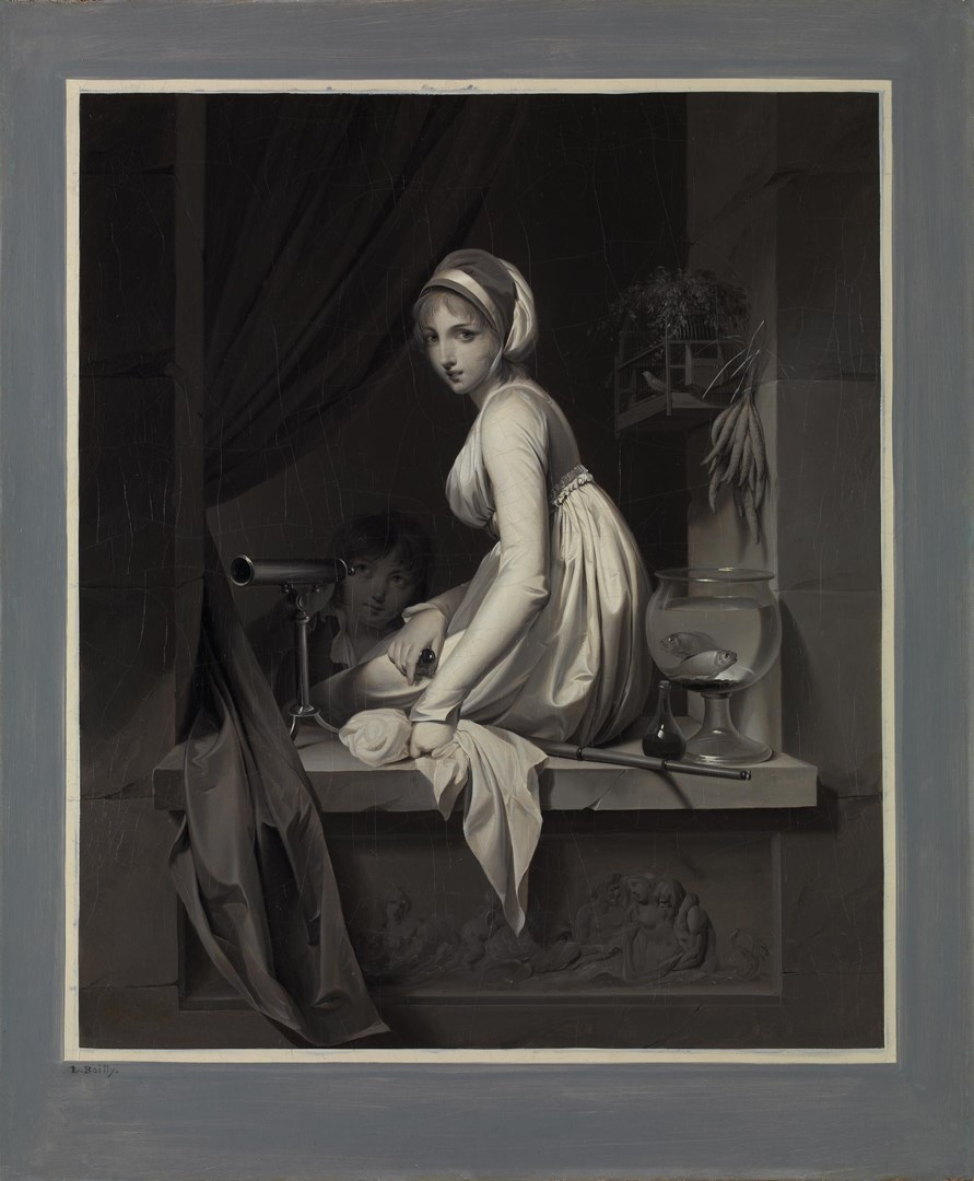 A Girl at a Window by Louis-Léopold Boilly