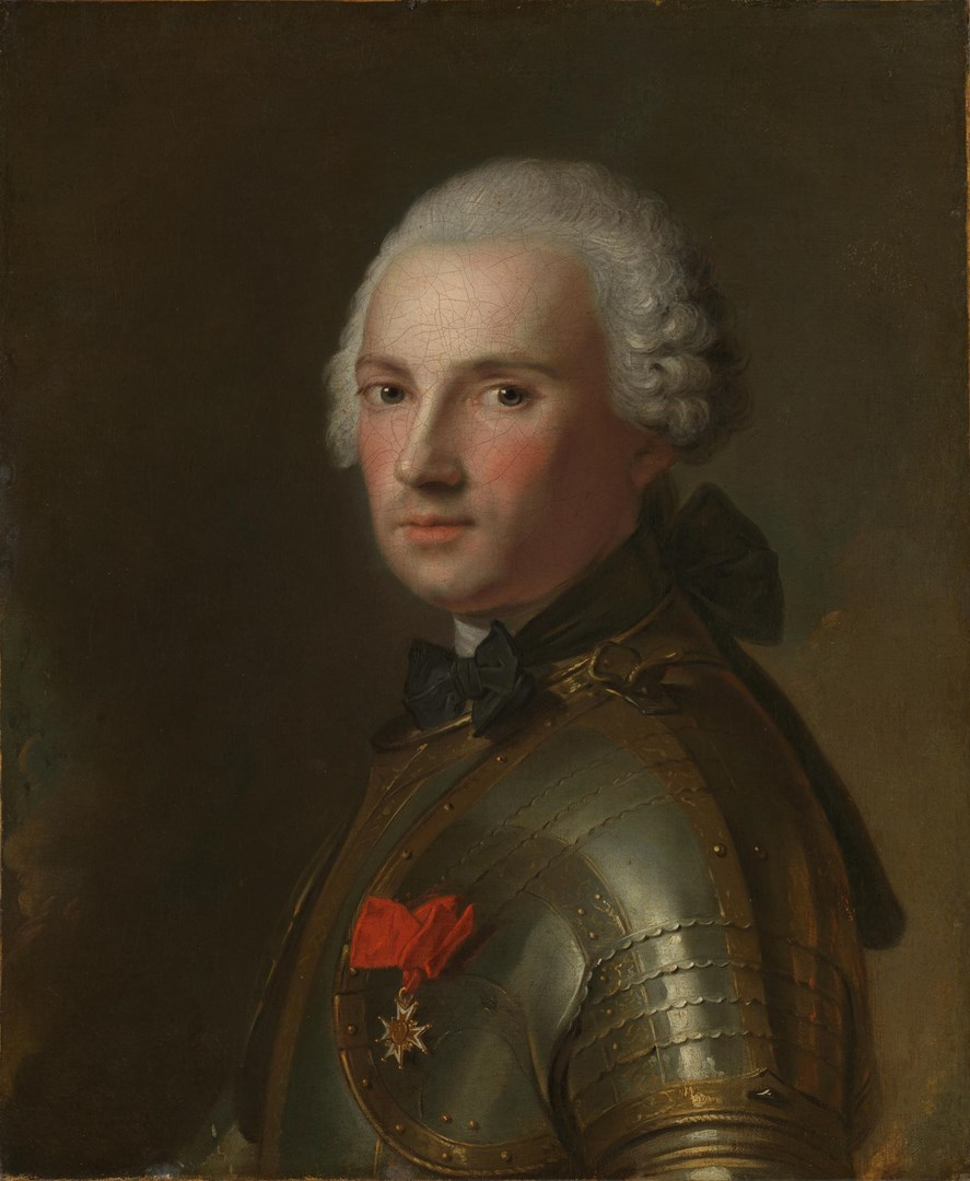 Portrait of a Man in Armour by Jean-Marc Nattier
