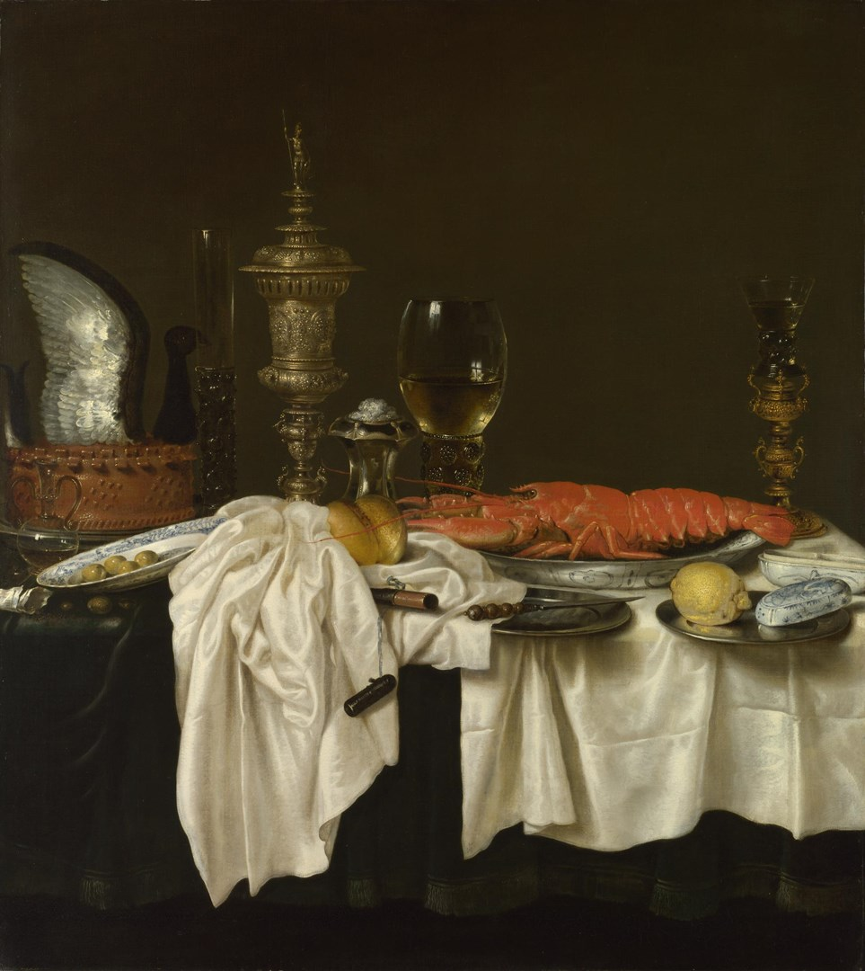Still Life with a Lobster by Willem Claesz. Heda