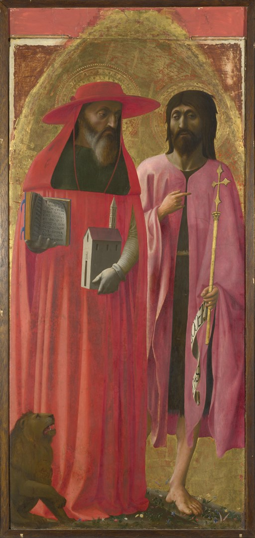 Saints Jerome and John the Baptist by Masaccio